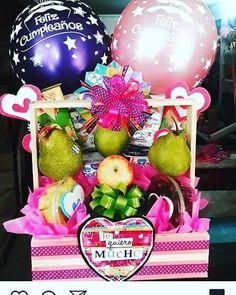 Birthday Hampers, Ideas Para, Diy And Crafts, Balloons, Birthday Cake, Box, Happy, Halloween, Gifts