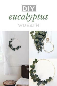 Love the simplicity of this pretty eucalyptus wreath  /aff/home/decor/wall/natural