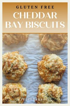 No one will ever know these gluten free cheddar bay biscuits are gluten free! They're perfectly seasoned, with a taste that keeps you coming back for more. #zestforbaking #glutenfreebiscuits #glutenfreebaking #glutenfreesnacks Gluten Free Snacks, Gluten Free Baking, Cheddar Bay Biscuits, Gluten Free Biscuits, Gluten Free Thanksgiving, Best Appetizers, Tray Bakes, Bread Recipes, Stuffed Peppers