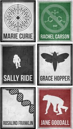 Minimalist Posters Celebrating Six Pioneering Women in Science -You can find Posters and more on our website.Minimalist Posters Celebrating Six Pioneering Women in Science - Science Art, Science Education, Teaching Science, Science And Nature, Science Posters, Science Images, Earth Science, Science Experiments, Science Quotes