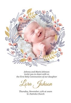 Happy Birthday Wishes Cake, Happy Anniversary Wishes, Baby Infographic, Baby Boy Invitations, Wedding Album Cover, Baby Boy Birth Announcement, Baby Boy Cards, First Communion Invitations, Cute Kids Photography
