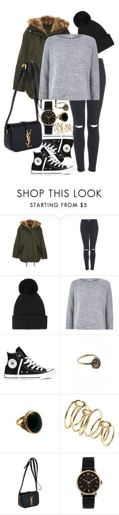 """""""All About The Bass by Meghan Trainor"""" by girlnamedflower ❤ liked on Polyvore featuring Topshop, STELLA McCARTNEY, River Island, Converse, Rock 'N Rose, H&M, Yves Saint Laurent and Marc by Marc Jacobs"""