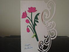 Birthday card using the Lyra die as a border
