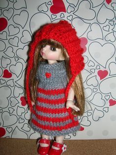 Pukifee / Yellow Lati  knitted doll clothes by 4THELOVEOFDOLLS, £6.95