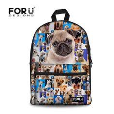 3D animal cat face backpack cute teenager girls school backpack women rucksack stylish children bagpack school bags FORUDESIGNS