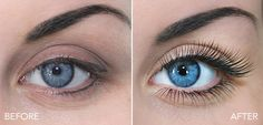 Before - After. #Regular #maintenance of two to three weeks is recommended and the wearer can continue with her eyelash #extensions as long as she wishes to. http://www.extensionsocils.com/