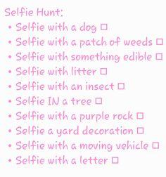 Fun Selfie scavenger hunt for parties!