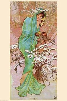 Alphonse Mucha Hiver (Winter)