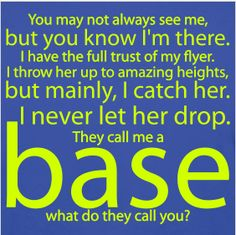 a bases job is never done and is so very important.....
