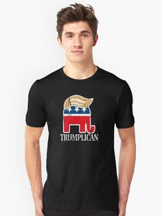 Funny and Bold Trump Elephant with Hair - TRUMPLICAN