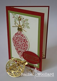 14 Aug, 2015 Rachel's Blog: Delicate Ornaments, Stampin Up Holiday Catalogue 2015 http://www.stampinup.net/esuite/home/rachelwoollard/blog?directBlogUrl=/blog/4001813/entry/holiday_catalogue_sneak_peek