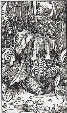 he angel with the key of the bottomless pit, detail - Albrecht Dürer Apocalypse's series woodcut 395 x 285 Albrecht Durer, Demon Days, Fantasy Concept Art, Macabre Art, Baphomet, Italian Artist, Medieval Art, Gothic Art, Fantastic Art