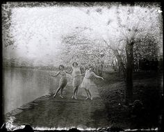 Life in gardens/enclos*ure: Dance among the cherry blossoms, 1920s, Wash.DC, Library of Congress