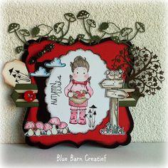Blue Barn Creatief: Kaart - Autumn Wishes