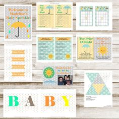 Baby Shower Printable water bottle labels by MagicalCelebrations1