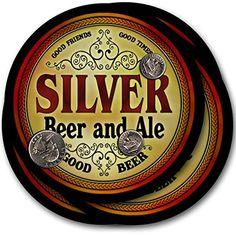 Silver Beer & Ale - 4 pack Drink Coasters ZuWEE…