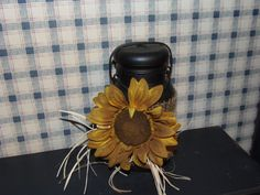 Latch Top Sunflower Canning Jar by DenisesKountryPatch on Etsy, $11.95