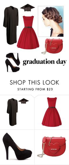 """Graduation day dress"" by laannaaa ❤ liked on Polyvore featuring Love Moschino and graduationdaydress"