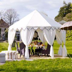 A romantic Indian-style gazebo makes a fabulous venue for outdoor Tea Parties