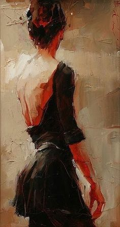 Beautiful painting of a woman from a backside view. Great texture and tones. paintings of women fine art Art Amour, Wow Art, Fine Art, Figure Painting, Painting Canvas, Knife Painting, Canvas Art, Pour Painting, Painting Process