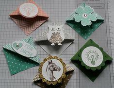 Origami-Lesezeichen mit Stampin Up