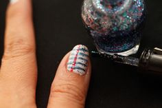How to Do Notebook Paper Nail Art: 6 Steps (with Pictures)