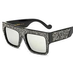 Pop Age Fashion Diamond Oversized Sunglasses Women Kim Kardashian Driving Sunglasses Men Eyewear Oculos de sol Gafas 400UV