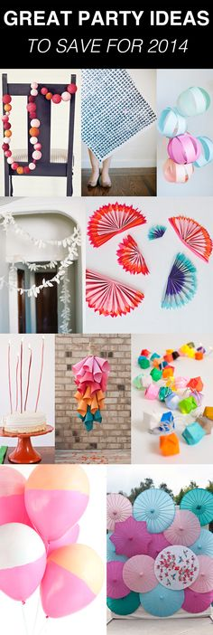 Great party ideas to save for 2014!