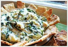 Southern Artistic Touch: Spinach & Artichoke Crock Pot Dip.
