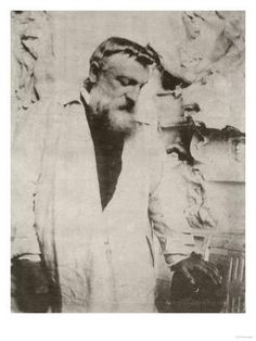 Giclee Print: Portrait of Auguste Rodin,1905 Art Print by Eugene Atget by Eugene Atget : 24x18in