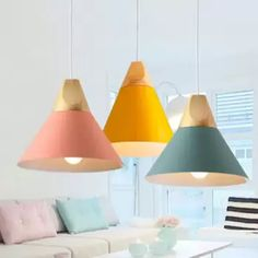 Pendant Lights Modern Wood Pendant Lamp Nordic Light For Cafe Restaurant Bedroom Kitchen Colorful Kitchen Lights Hanging Malaysia Copper Pendant Lights, Modern Pendant Light, Glass Pendant Light, Pendant Lamp, Pendant Lighting, Dining Room Bar, Living Room Kitchen, Kitchen Bar Lights, Bar Light Fixtures