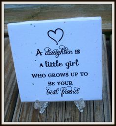 Daughter Quote Tile  Mothers Day Gift Mother's Day by timestotreasure on Etsy