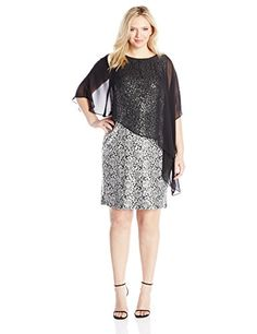 866db31e784 Jessica Howard Women s Plus-Size Lace Dress with Capelet   Quickly view  this special product