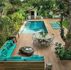 38 The Best Swimming Pool Designs Ideas That You Definitely Like - Swimming pools are places where people love to relax in and by. The different swimming pools that you will find are a sign of how people want to have . Small Swimming Pools, Luxury Swimming Pools, Luxury Pools, Swimming Pool Designs, Backyard Pool Landscaping, Landscaping Ideas, Backyard Designs, Backyard Ideas, Casa Patio