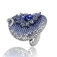 Chopard sapphires and diamonds ring