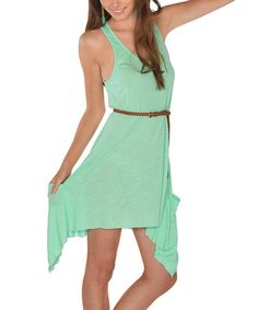 Take a look at this Mint Sidetail Dress on zulily today!