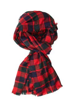 Frayed Plaid Scarf | FOREVER 21 - 1000120819