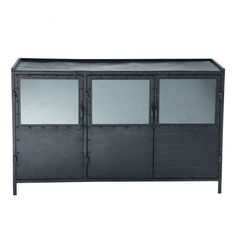 industrial glazed sideboard in black W Ediso., Metal industrial glazed sideboard in black W Ediso. Beach Furniture, Find Furniture, Living Room Furniture, Home Furniture, Side Board, Affordable Furniture, Unique Furniture, Metal Sideboard, Black Metal
