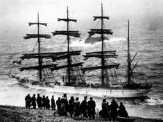 25th April, 1936. 'Herzogin Cecilie' hits rocks in the fog at Salcombe in Devon. The windjammer, the largest sailing ship in the world, was famous as the winner of several grain races from Australia to England. Born in '46 in Salcombe, the legend was told to me by my family.
