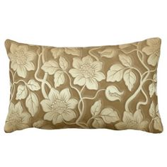 Vintage Floral & Damask Print MoJo Throw Pillow