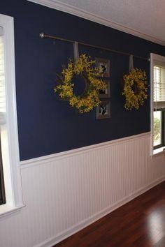 Paintable beadboard wallpaper.