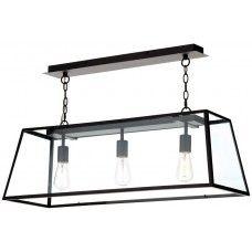 Dar Academy 3 Light Industrial Pendant Trough Matt Black Light above dining table?
