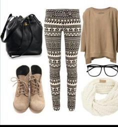 this is super cute! maybe not with those leggings and boots though haha