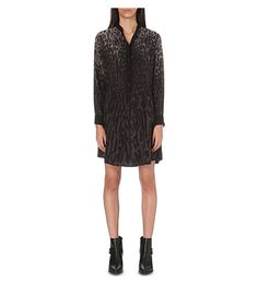 ALLSAINTS Leopard-print silk shirt dress. #allsaints #cloth #dresses
