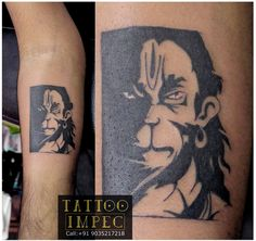 #Bajrangbali #Hanuman #Tattoo # ;)  Get inked from Experienced Tattoo Professional.. Call: Sunil C K @ +91 9035217218 to book your appointment.  www.facebook.com/tattooimpec