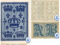 Free antique embroidery / cross-stitch charts - gorgeous!