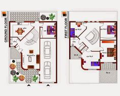 Small Two story house plan Type C