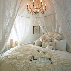 ROMANTIC FRENCH BEDROOM WITH CANOPY Design, Pictures, Remodel, Decor and Ideas