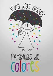 PARA DIAS GRISES PARAGUAS DE #COLORES