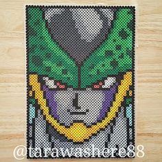 Cell Dragon Ball perler beads by tarawashere88